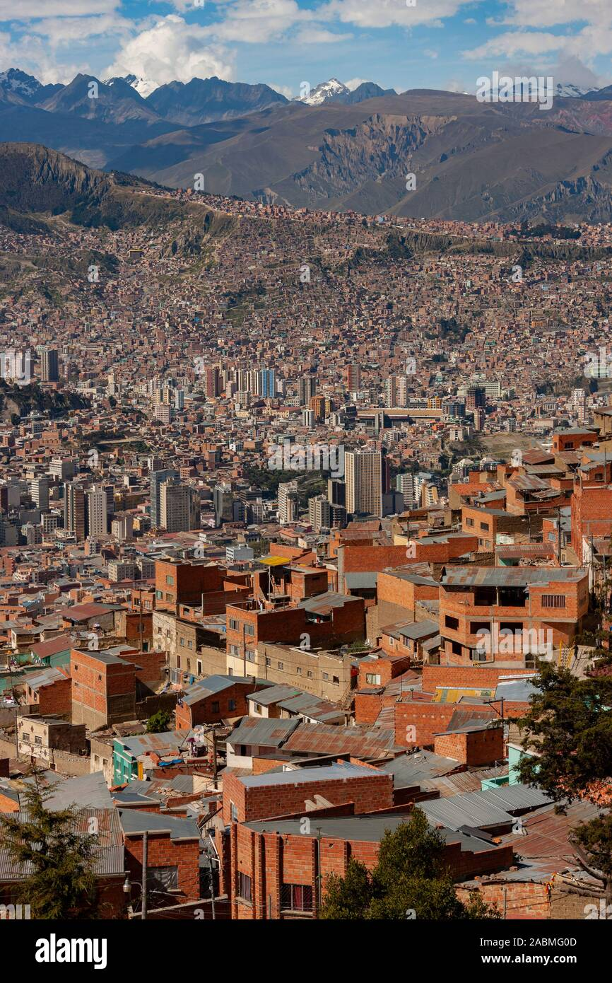 The City Of La Paz In Bolivia South America At An Elevation Of Roughly 3 650m 11 975ft Above Sea Level La Paz Is The Highest Capital City In The Stock Photo Alamy