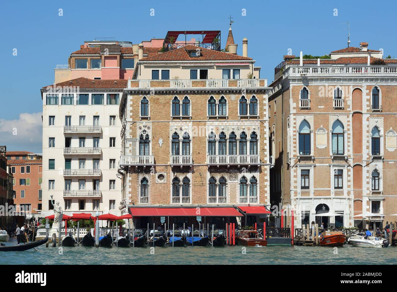 Venice Veneto Italy September 09 2019 Grand Hotel Bauer Palazzo On The Grand Canal In San Marco Of Venice Italy Stock Photo Alamy