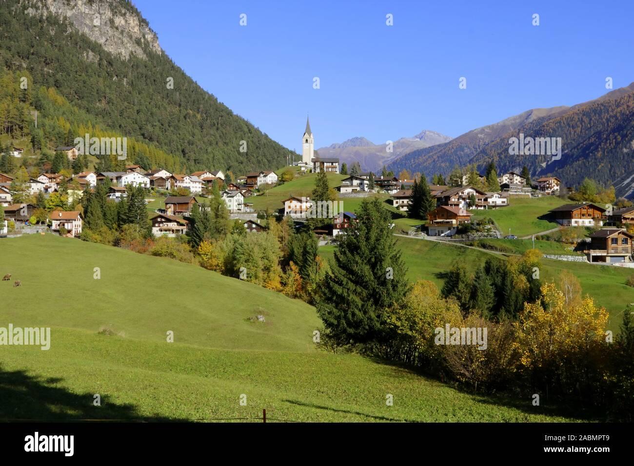 Schmitten Albula Stock Photo