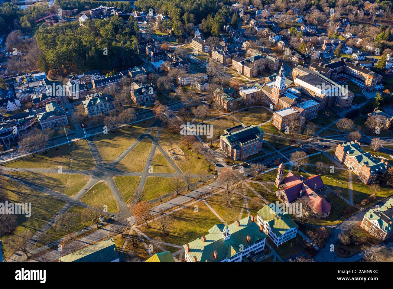 Dartmouth College, Hanover, NH Stock Photo