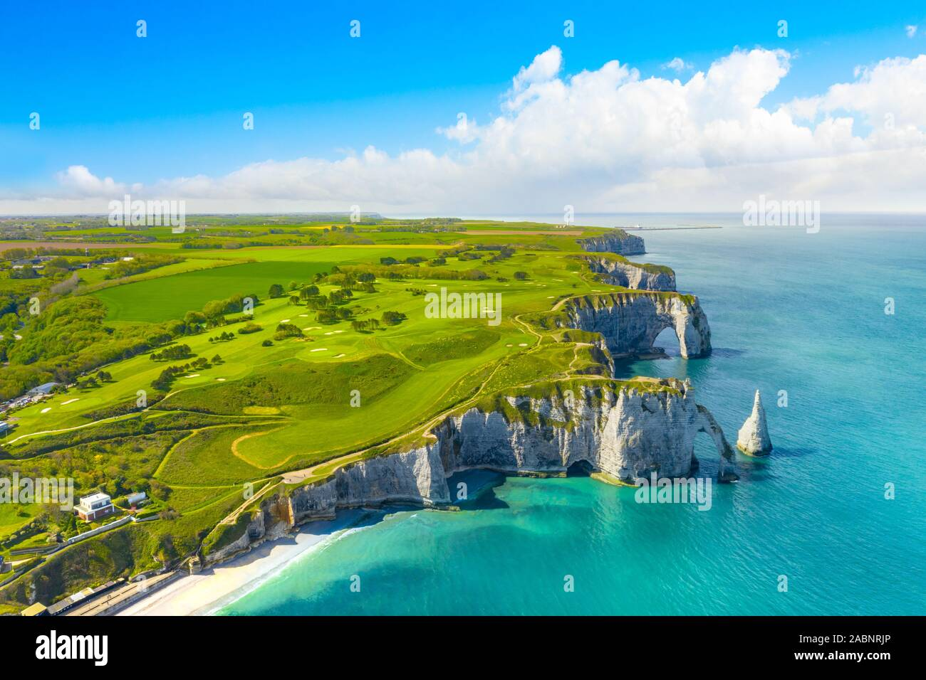 Picturesque Panoramic Landscape On The Cliffs Of Etretat Natural