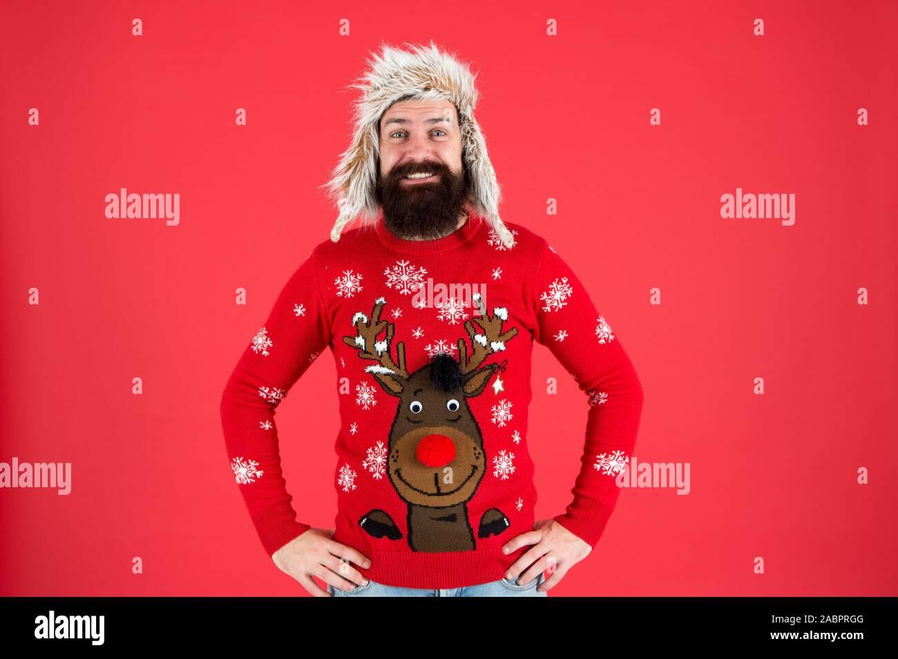 Santa Beard Funny Novelty Gifts Christmas Jumper Sweater
