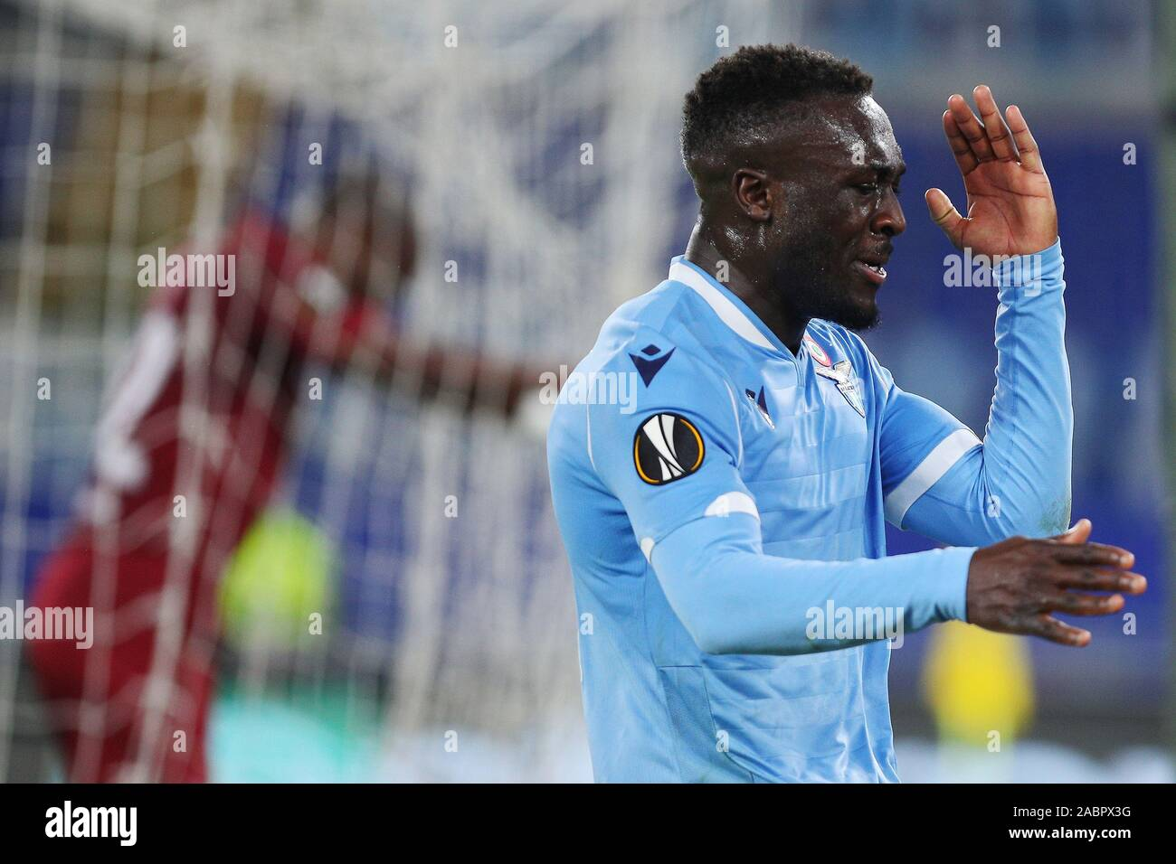 Bobby Adekanye of Lazio reacts during the UEFA Europa League, Group E football match between SS Lazio and CFR Cluj on November 28, 2019 at Stadio Olimpico in Rome, Italy - Photo Federico Proietti/ESPA-Images Stock Photo