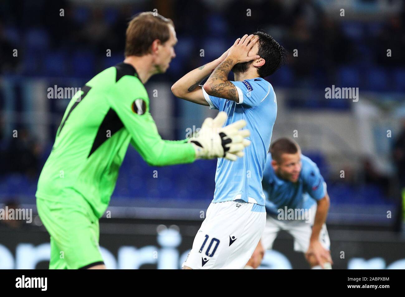 Luis Alberto of Lazio reacts during the UEFA Europa League, Group E football match between SS Lazio and CFR Cluj on November 28, 2019 at Stadio Olimpico in Rome, Italy - Photo Federico Proietti/ESPA-Images Stock Photo