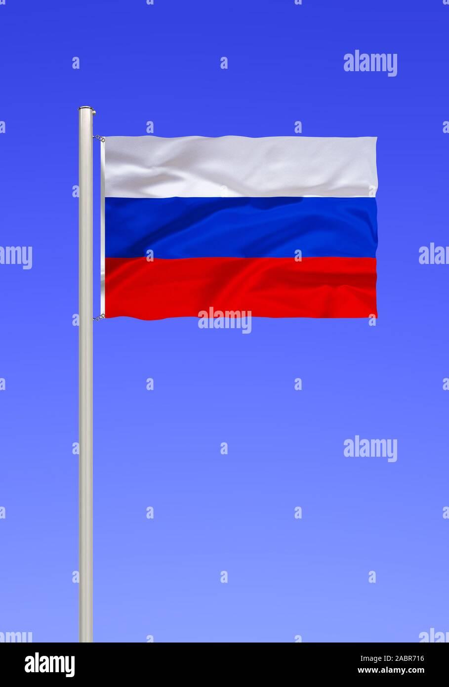 Flagge von Russland Stock Photo