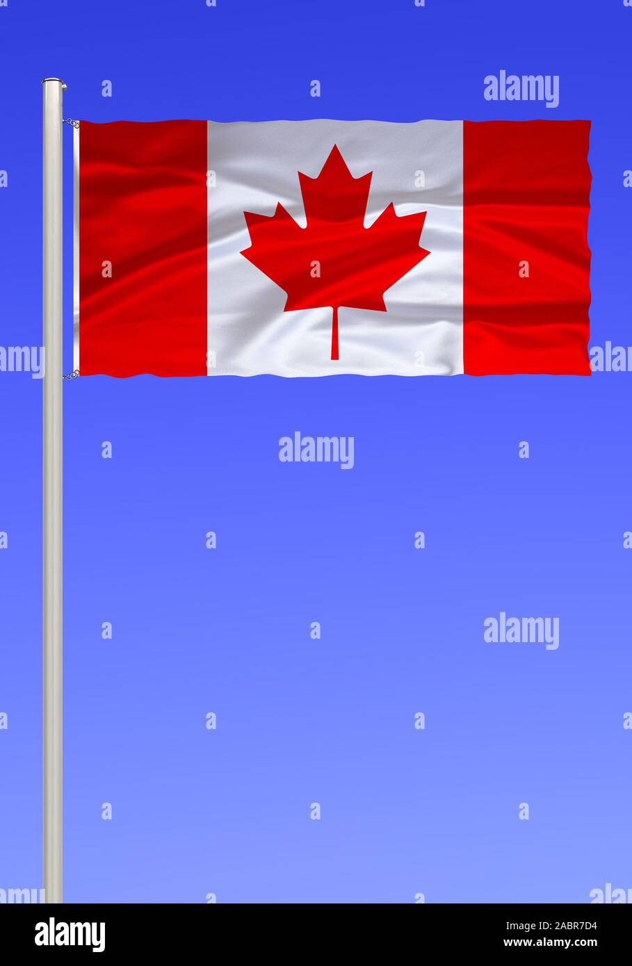Flagge von Kanada Stock Photo