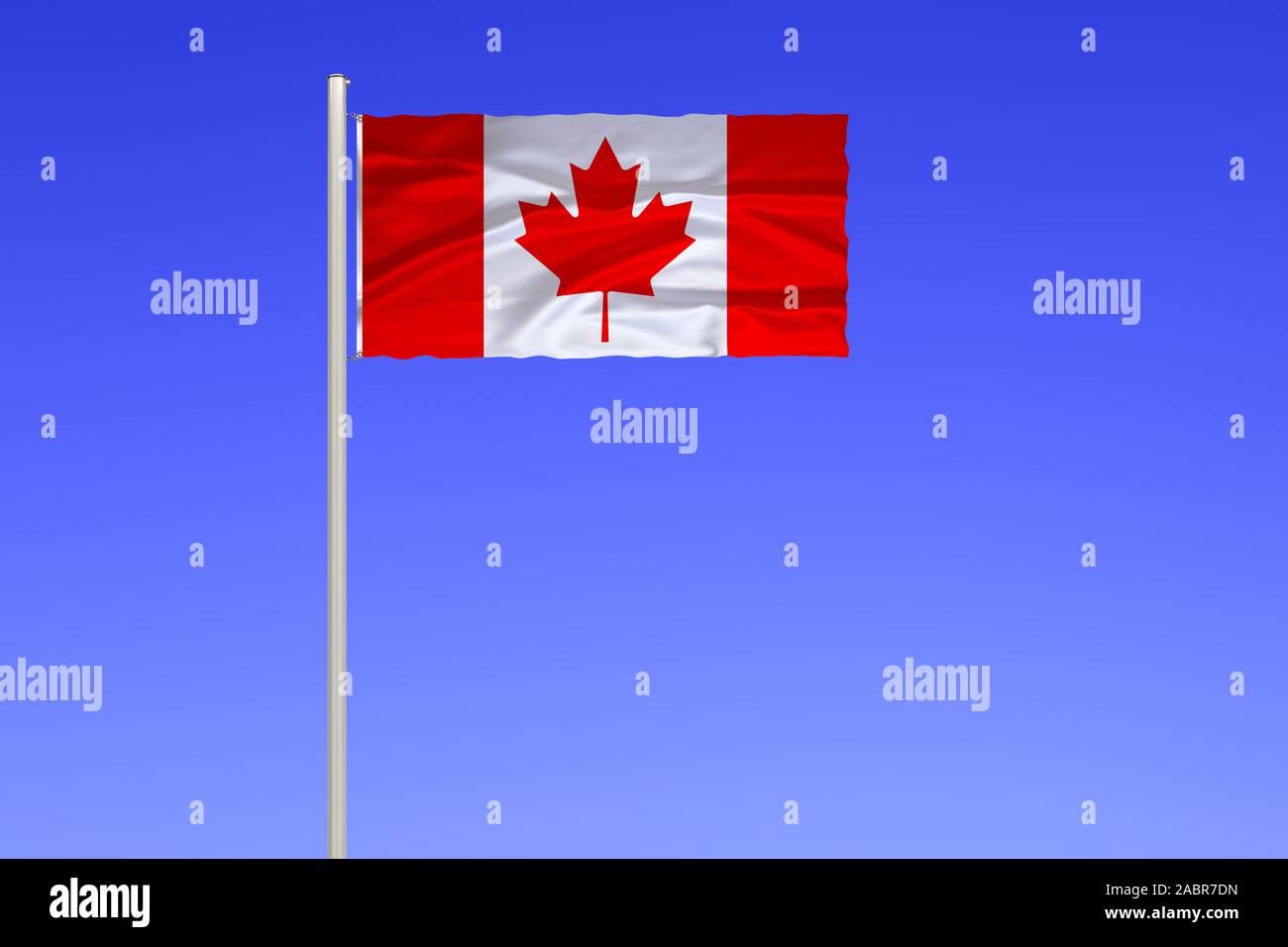 Flagge von Kanada Stock Photo