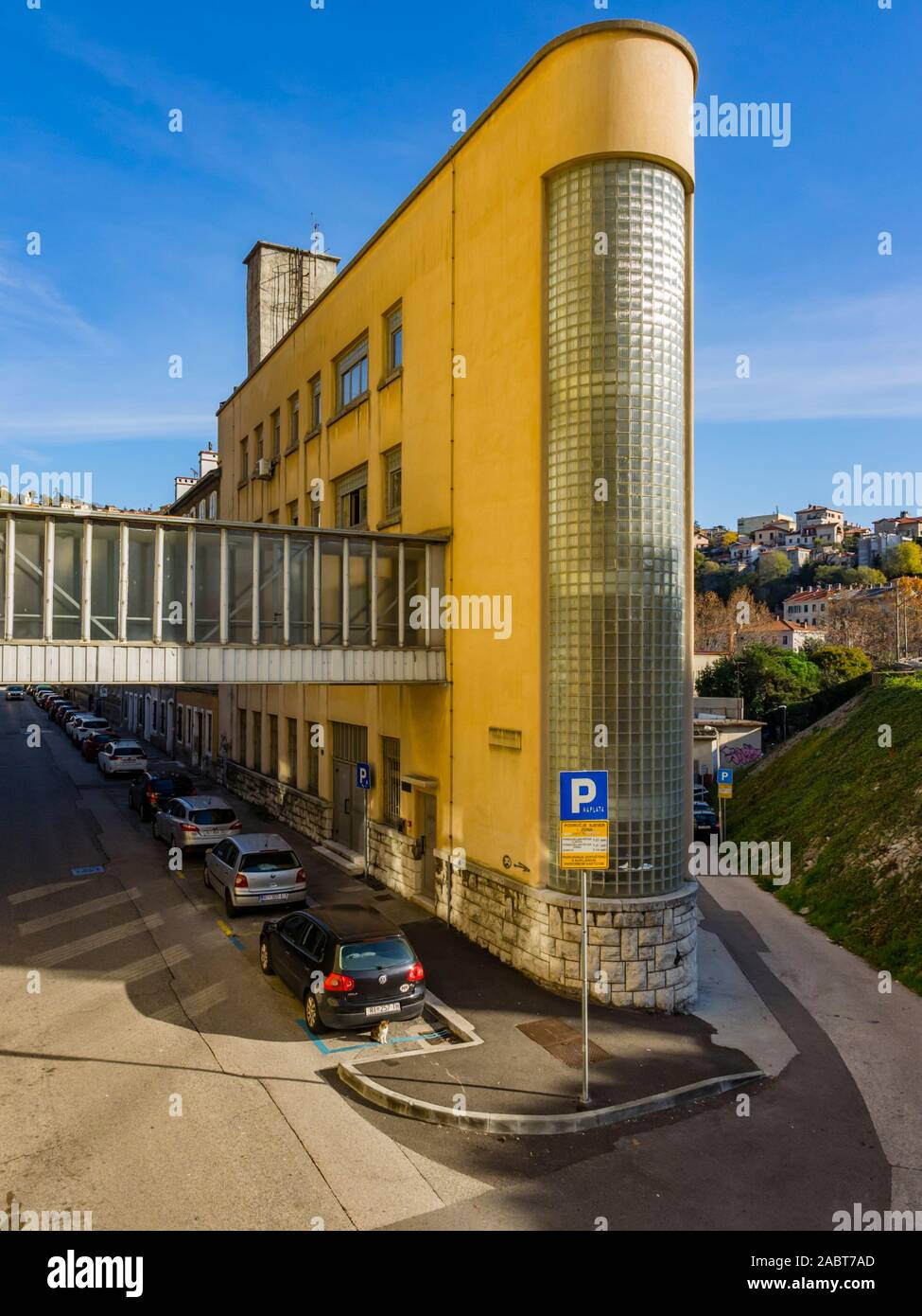 Rijeka Croatia Vodovodna ulica street  building zgrada ex Kozara Kozare Ruzic Stock Photo