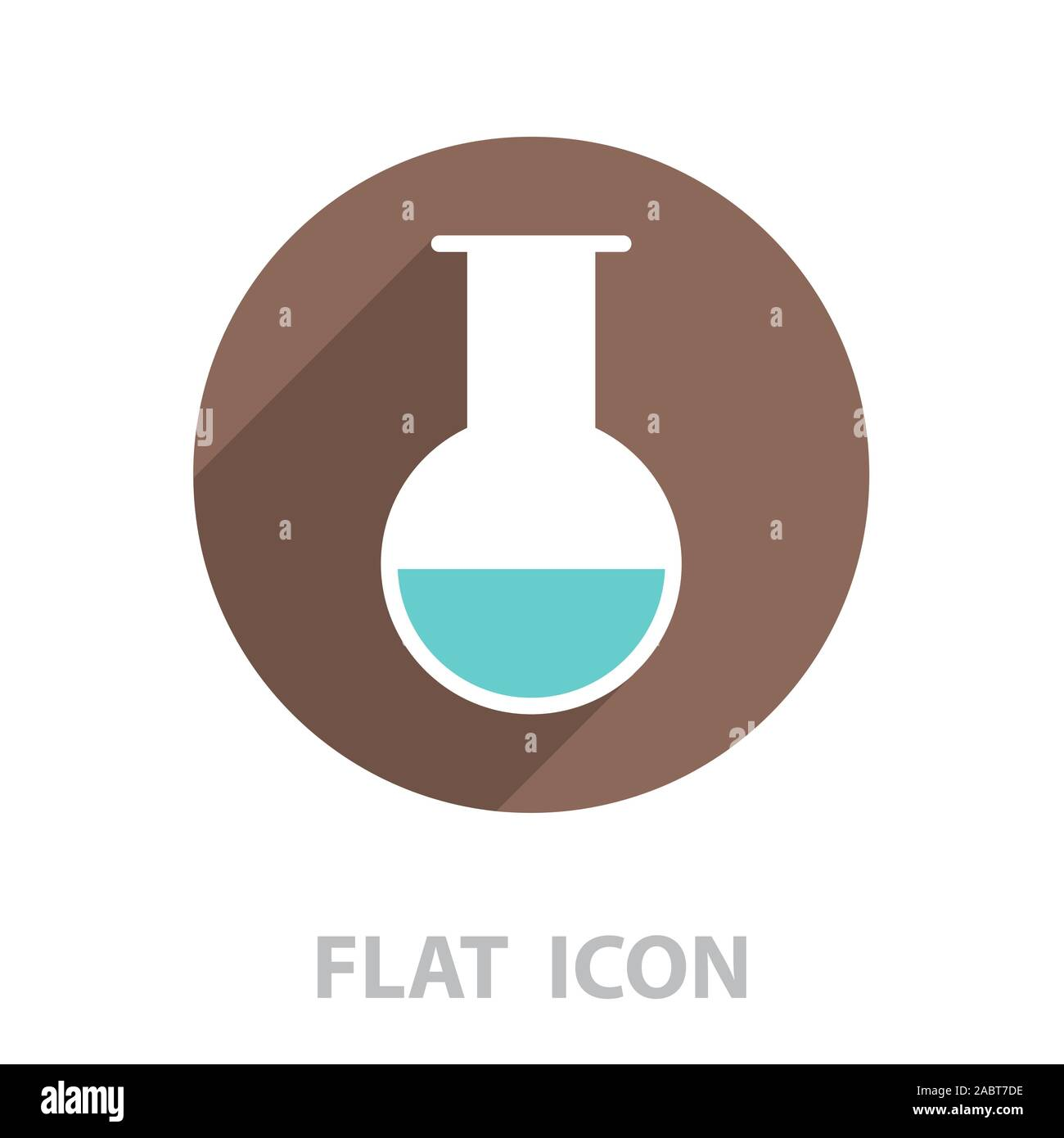 test-tube icon. vector illustration Stock Vector