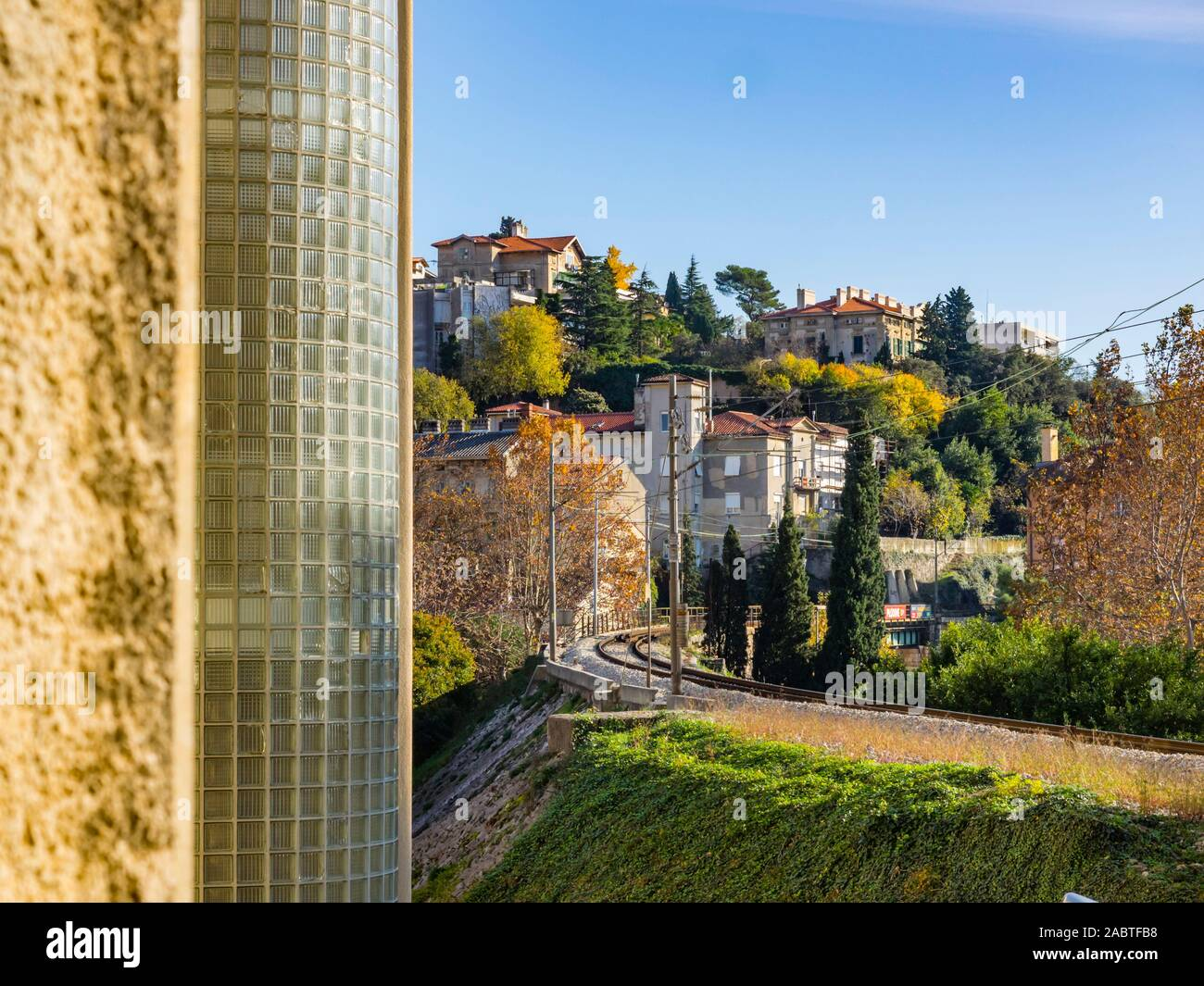 Railway in Rijeka Croatia Stock Photo