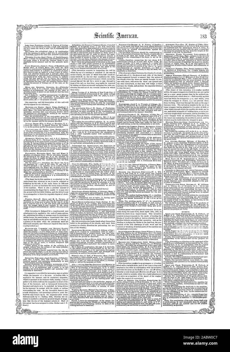 ze`, scientific american, 1859-04-30 Stock Photo