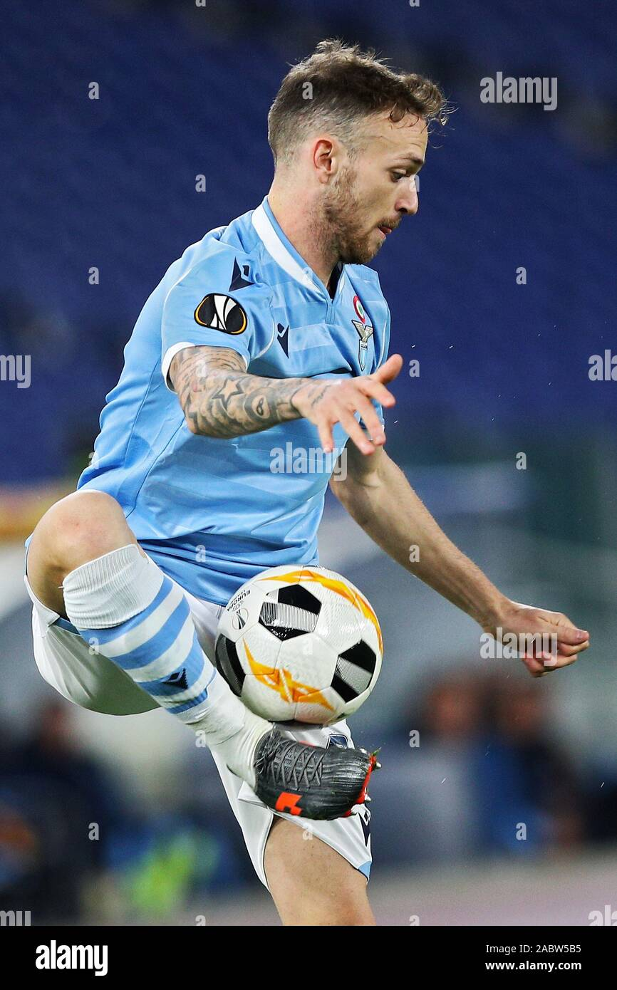 Manuel Lazzari of Lazio in action during the UEFA Europa League, Group E football match between SS Lazio and CFR Cluj on November 28, 2019 at Stadio Olimpico in Rome, Italy - Photo Federico Proietti/ESPA-Images Stock Photo