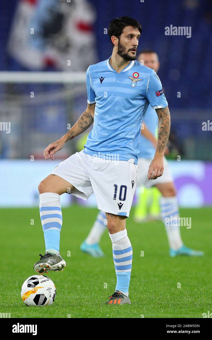 Luis Alberto of Lazio in action during the UEFA Europa League, Group E football match between SS Lazio and CFR Cluj on November 28, 2019 at Stadio Olimpico in Rome, Italy - Photo Federico Proietti/ESPA-Images Stock Photo