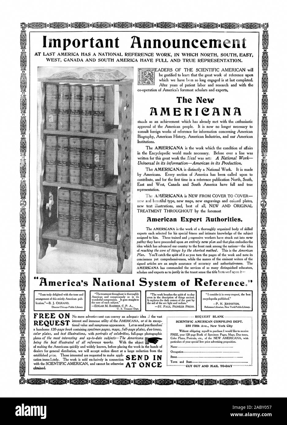 AT LAST AMERICA HAS A NATIONAL REFERENCE WORK IN WHICH NORTH ...