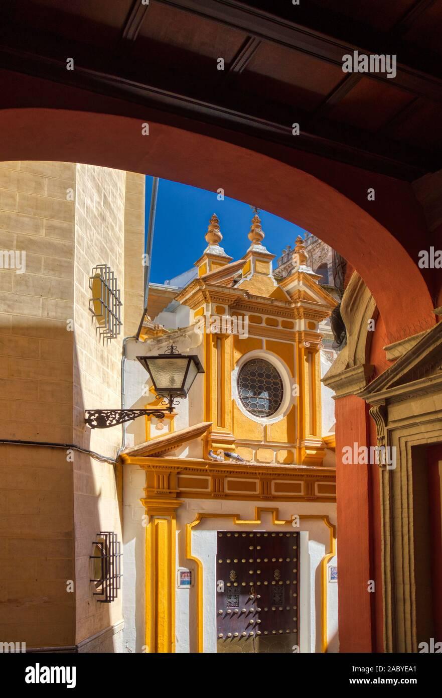 Santa Cruz, the old Jewish Quarter in Seville Andalusia Spain Stock Photo
