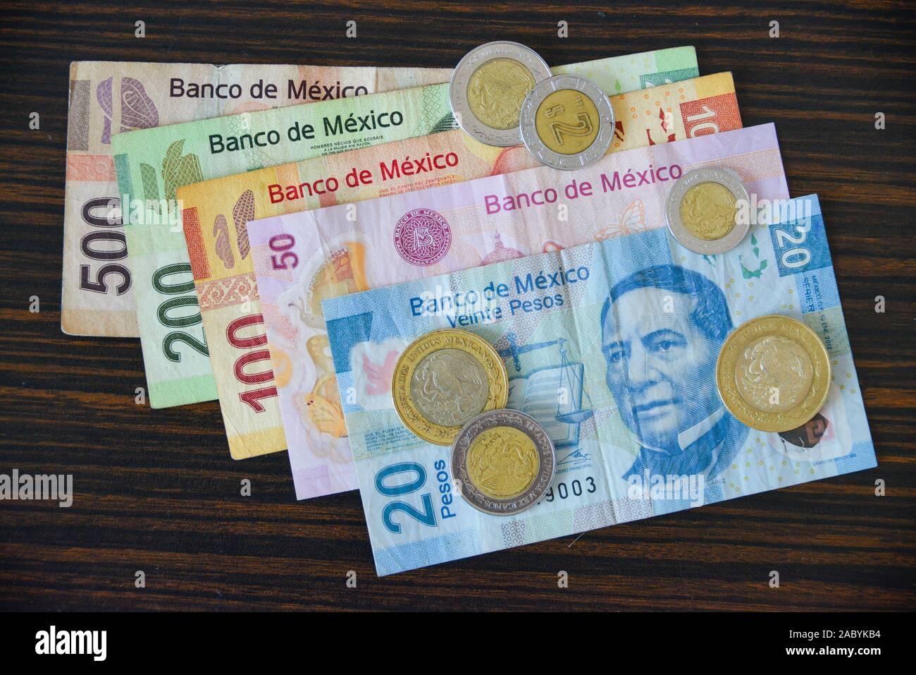 Mexikanisches Geld, Pesos Stock Photo