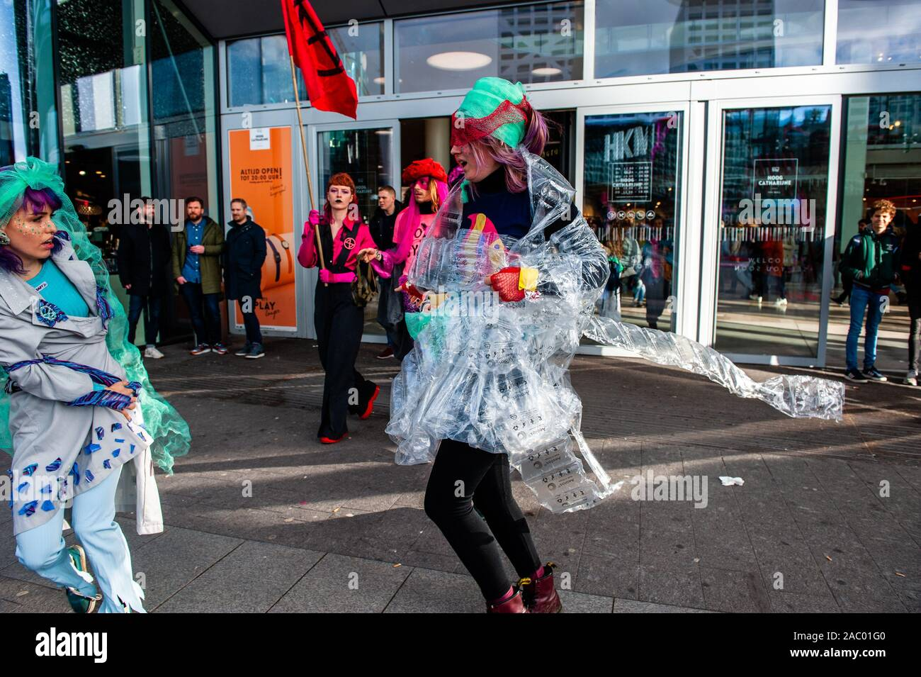 Xr Models Coming Out From The Mall Before The Show In Utrecht Extinction Rebellion Nederland Organised