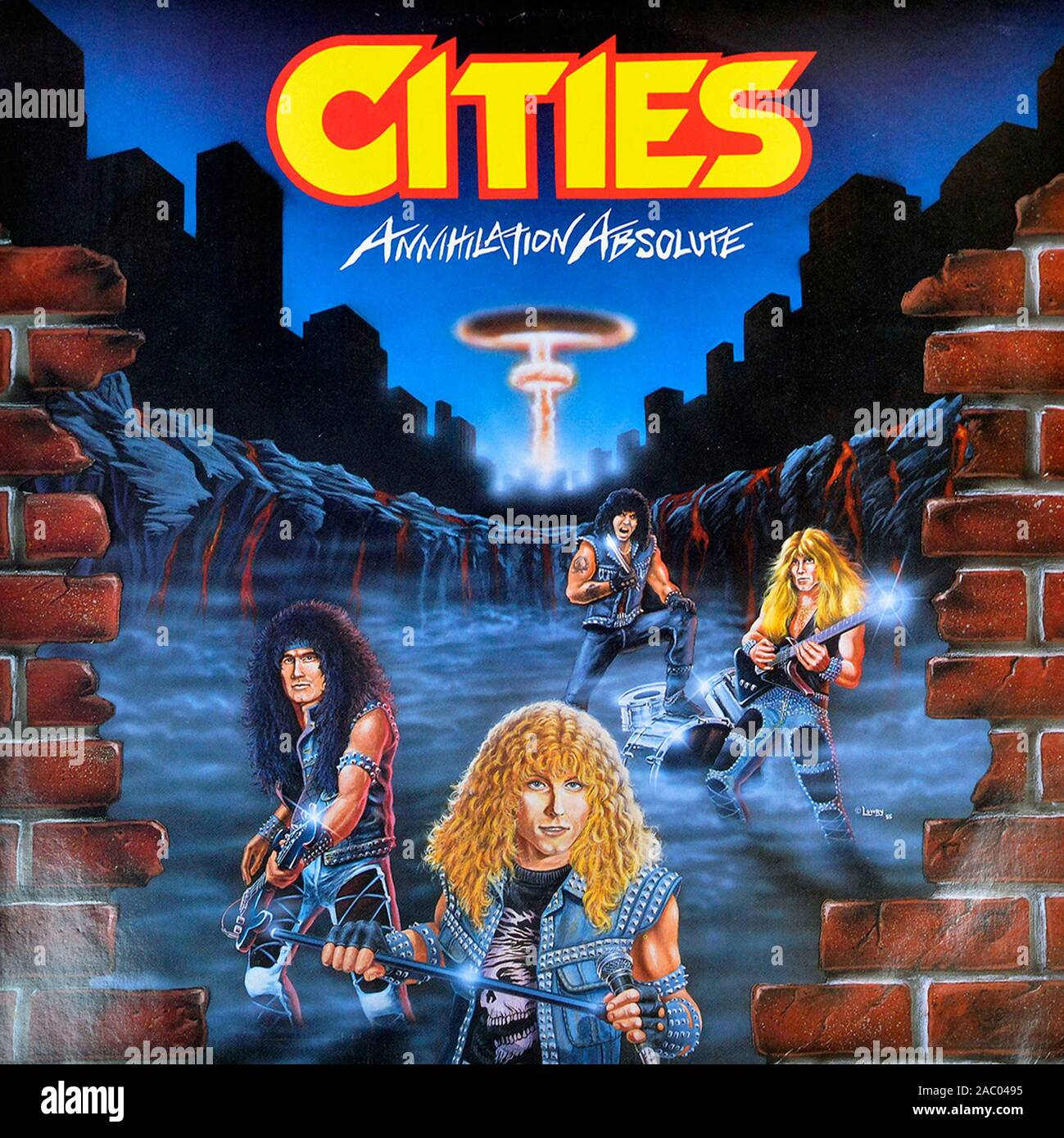 CITIES - Annihilation Absolute - Vintage vinyl album cover Stock Photo
