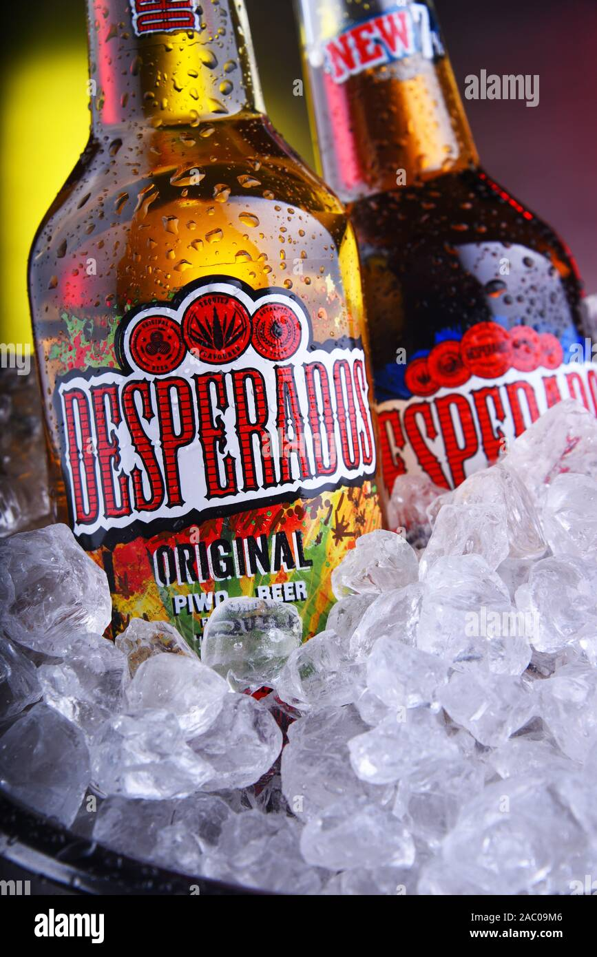 Poznan Pol Nov 8 2019 Bottles Of Desperados Pale Lager Flavored With Tequila A Popular Beer Produced By Heineken And Sold In Over 50 Countries Stock Photo Alamy