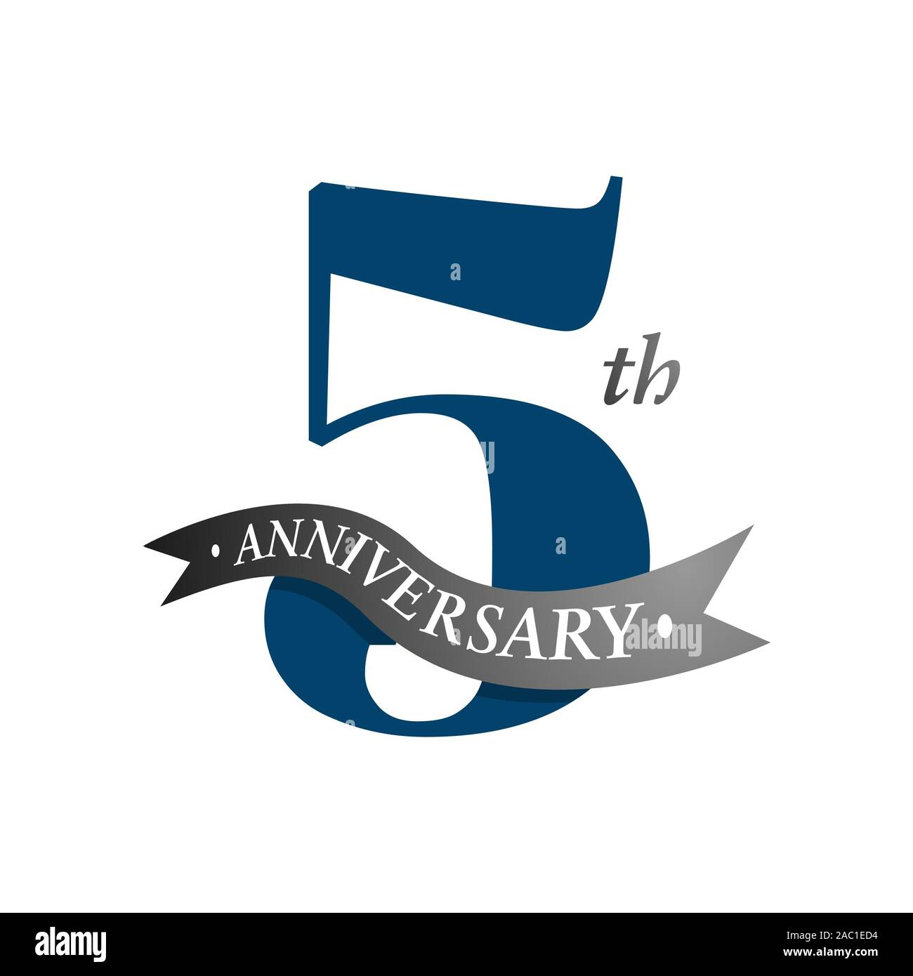 5th Anniversary Vector Logo Illustration 5 Years Anniversary Celebration Design Logotype With Number And Ribbon Five Years Celebration Event Sign Stock Vector Image Art Alamy