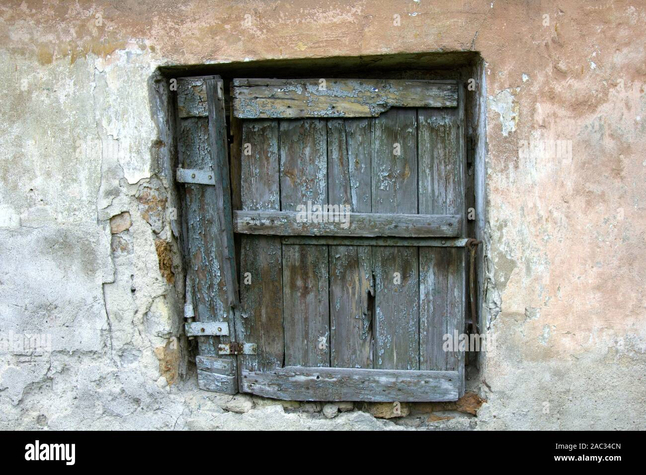 Very Old Window With Shutters Is Easy Such Small And