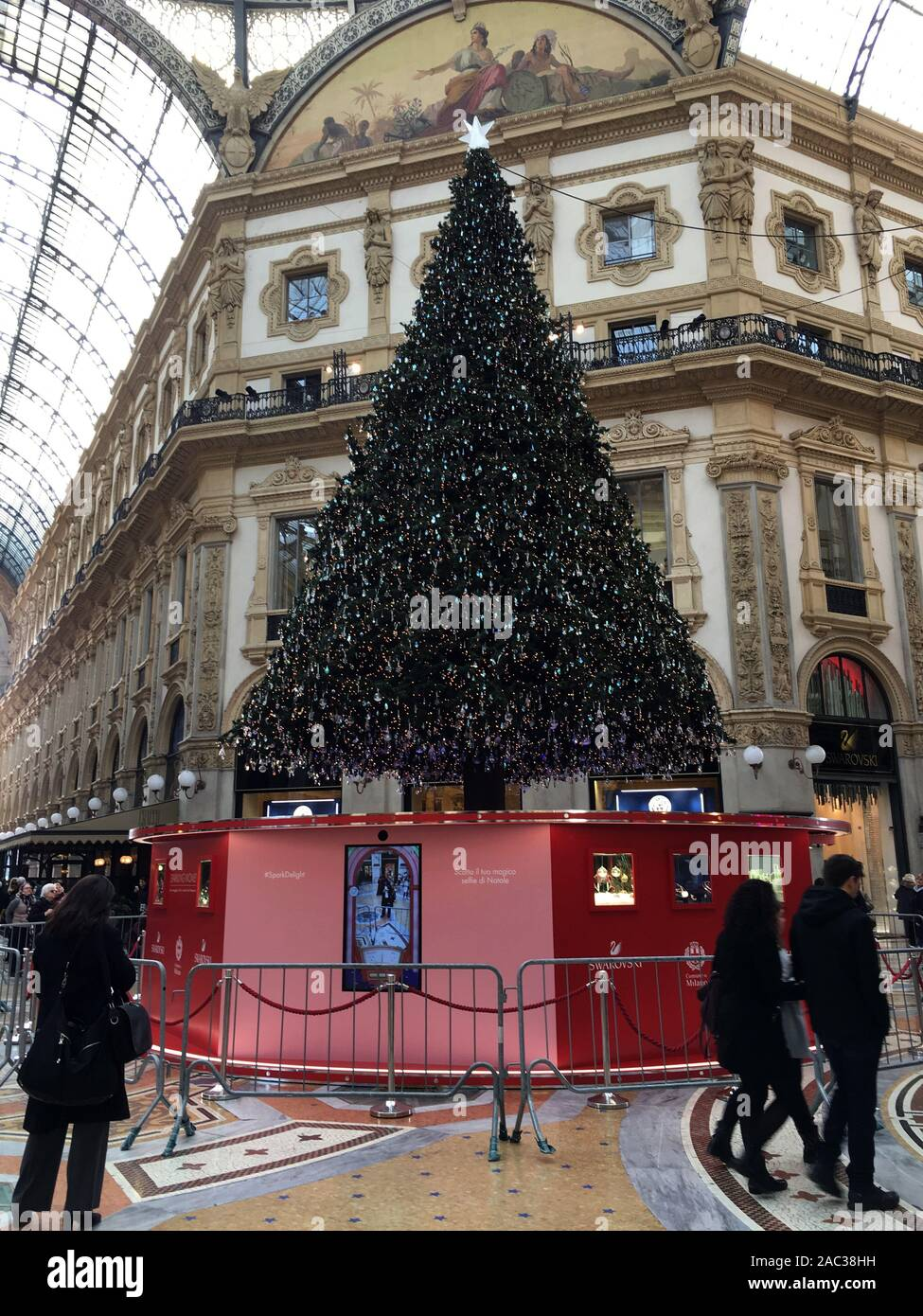 Milan Italy 30th Nov 2019 Christmas Decorations 2019 In