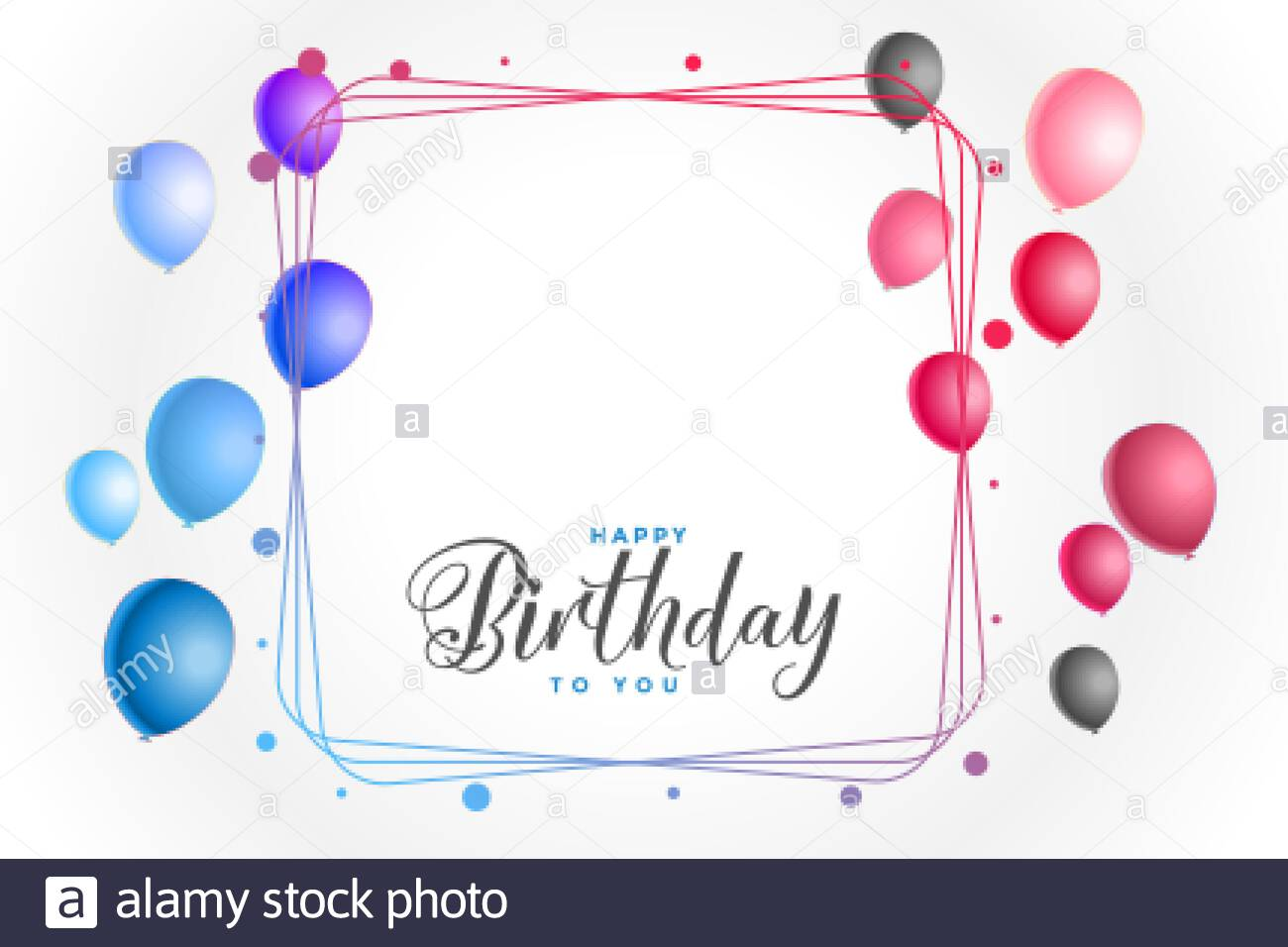 colorful happy birthday background with text space Stock ...
