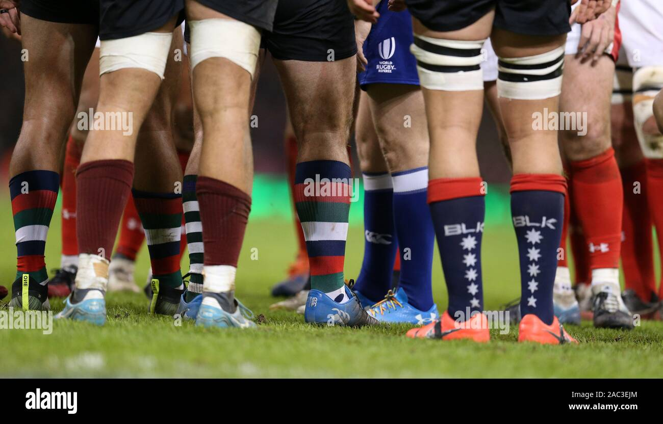 Cardiff, UK. 15th Nov, 15. A close up as Barbarians players ...