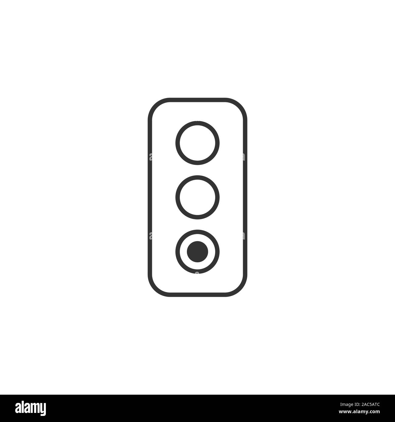 Semaphore icon in flat style. Traffic light vector illustration on white isolated background. Crossroads business concept. Stock Vector