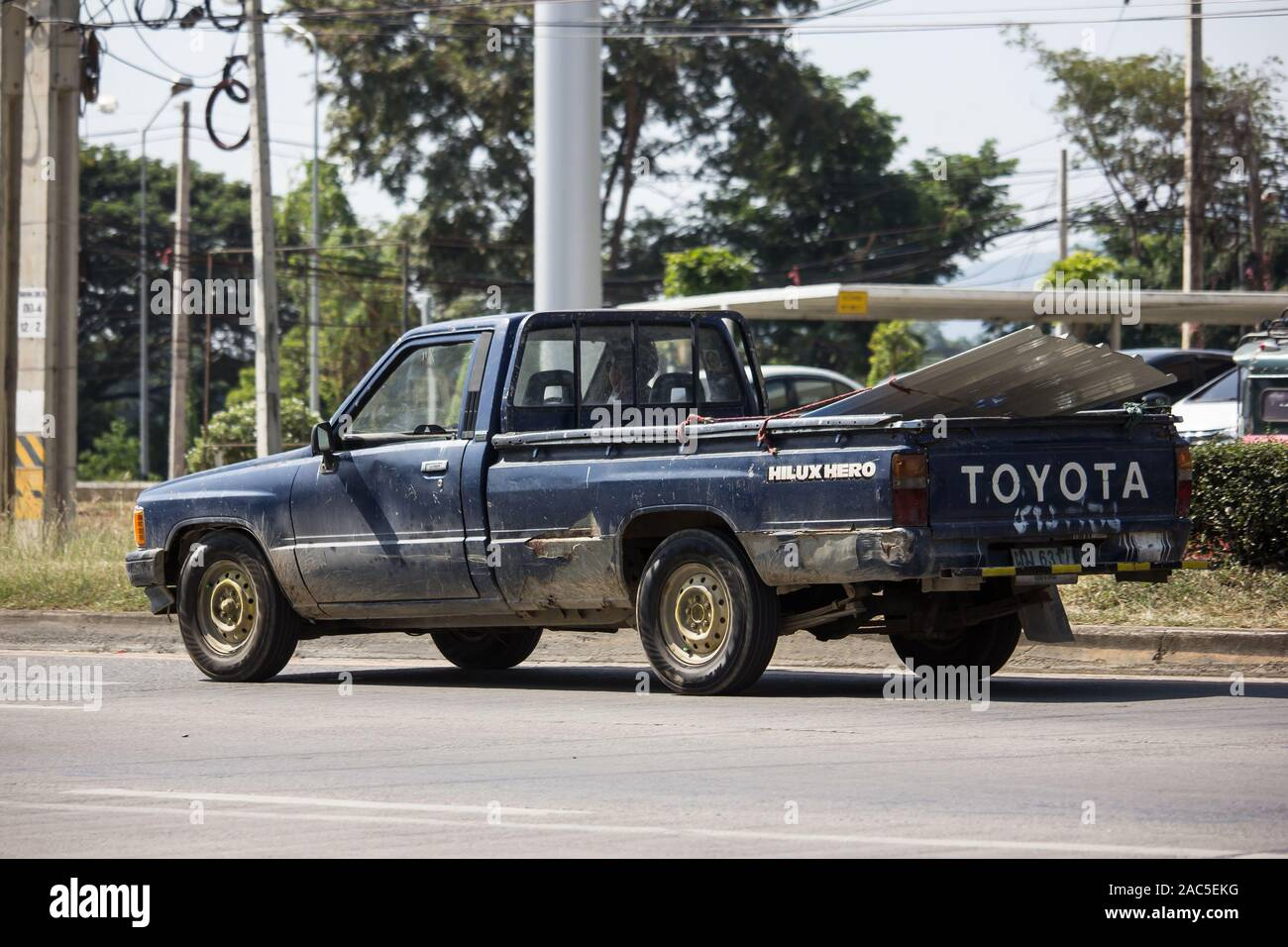 Chiangmai Thailand November 19 2019 Private Old Pickup Car Toyota Hilux Mighty X On Road No 1001 8 Km From Chiangmai City Stock Photo Alamy