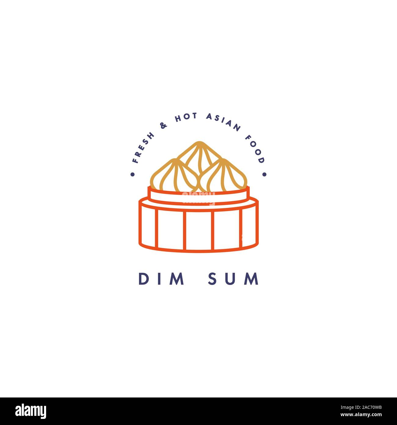 vector logo design template and emblem or badge asian food dim sum linear logos stock vector image art alamy https www alamy com vector logo design template and emblem or badge asian food dim sum linear logos image334527239 html