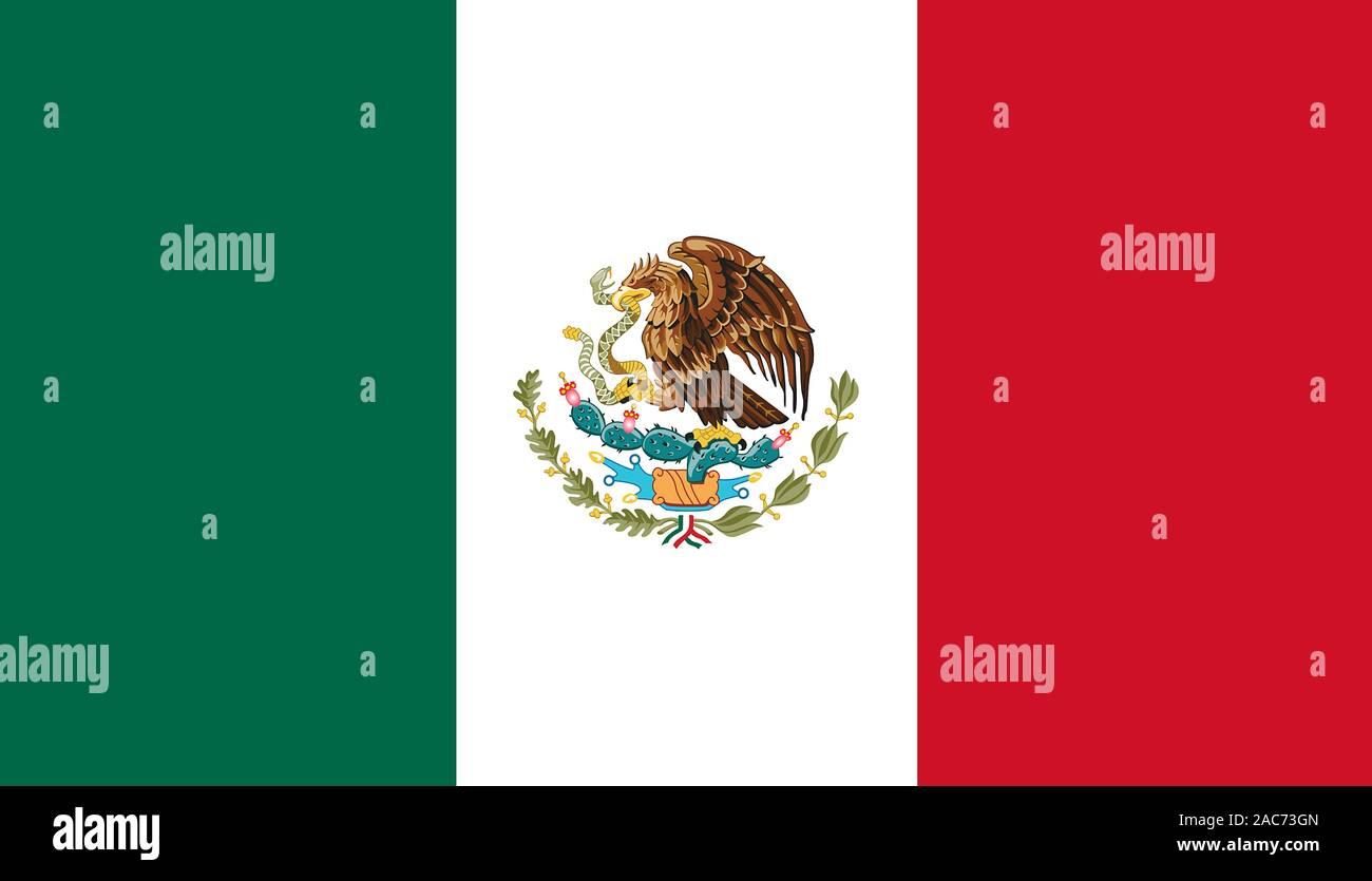 Nationalfahne, Flagge von Mexiko, Nordamerika Stock Photo