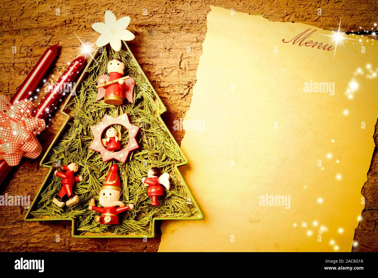 Background To Write Christmas Menu Invitation Card Vintage