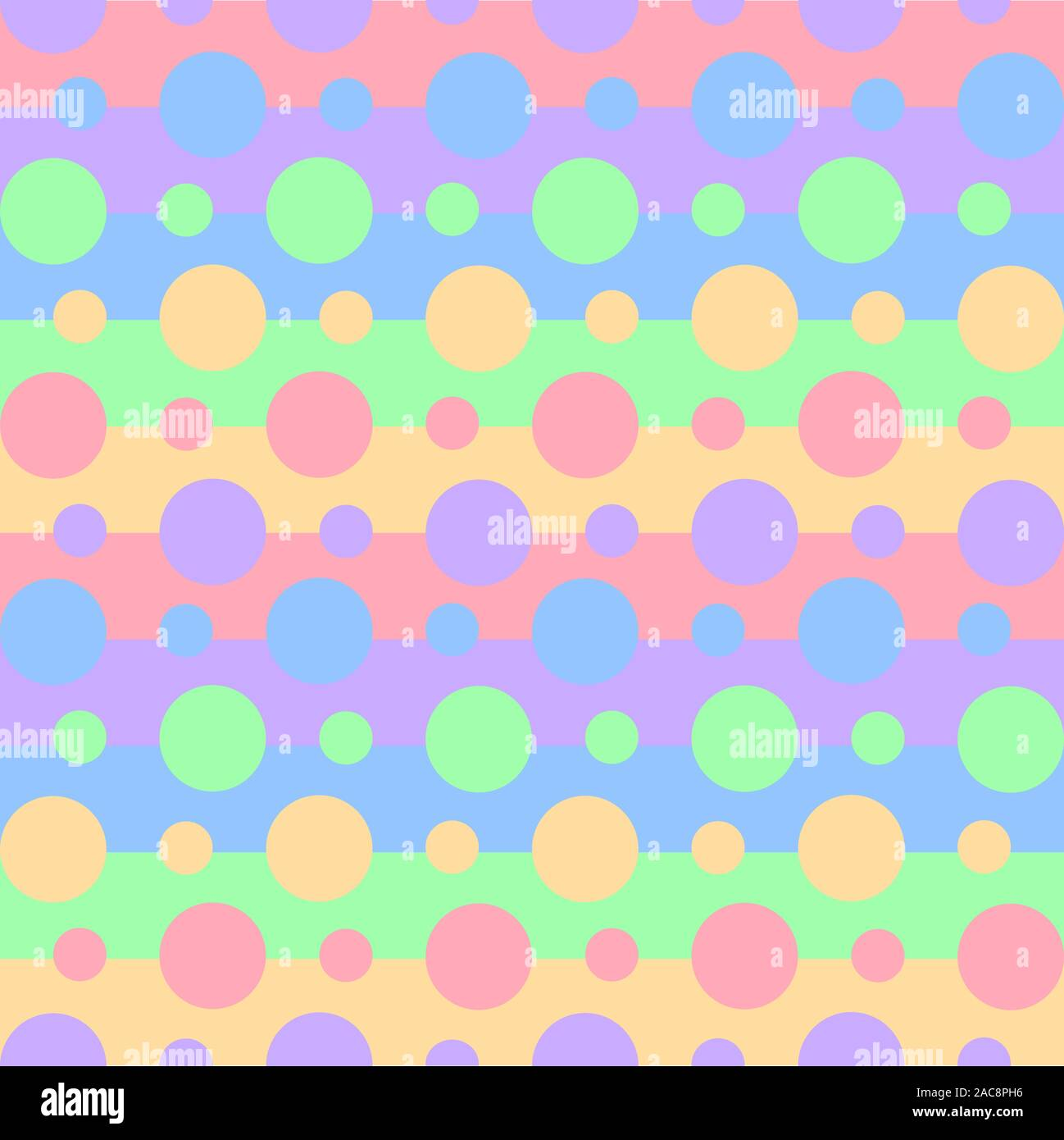 Seamless Pattern Of Vibrant Rainbow Colors On Stripes And Circles Wallpaper Of Baby Pastel Print For Clothes Pajamas Notebooks Or Wrapping Paper Stock Vector Image Art Alamy