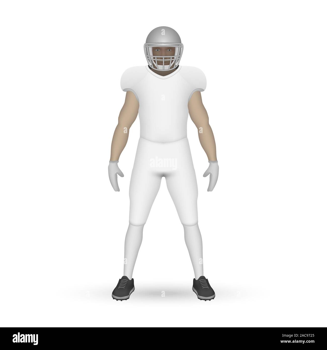 Download 3d Realistic American Football Player Kit Template Design Stock Vector Image Art Alamy Free Mockups