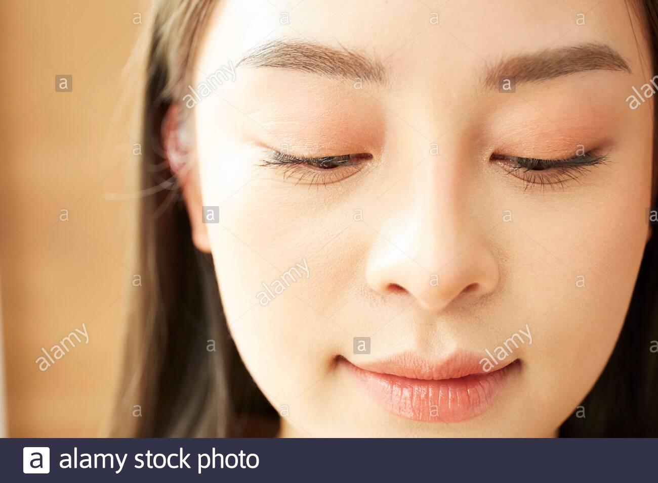 Face-up women Stock Photo
