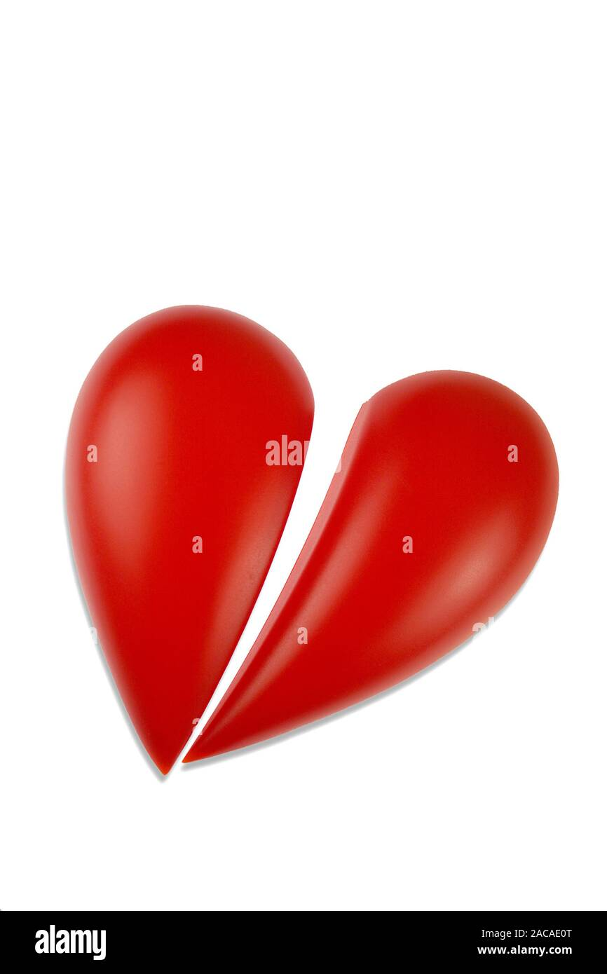 Gebrochens Herz - broken heart Stock Photo