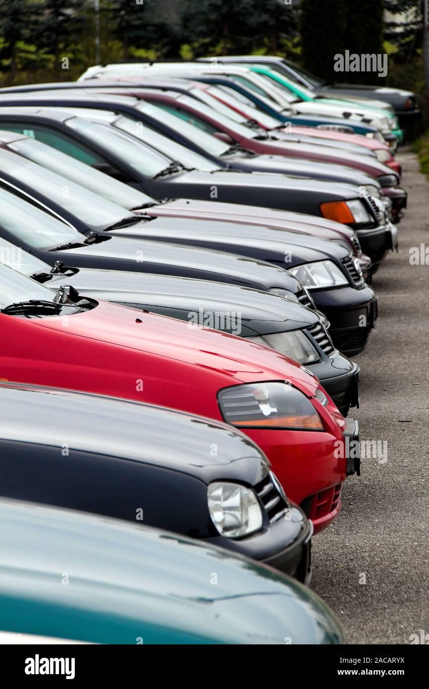 Used Cars Dealers >> Used Cars At Car Dealers Used Car Trade Stock Photo