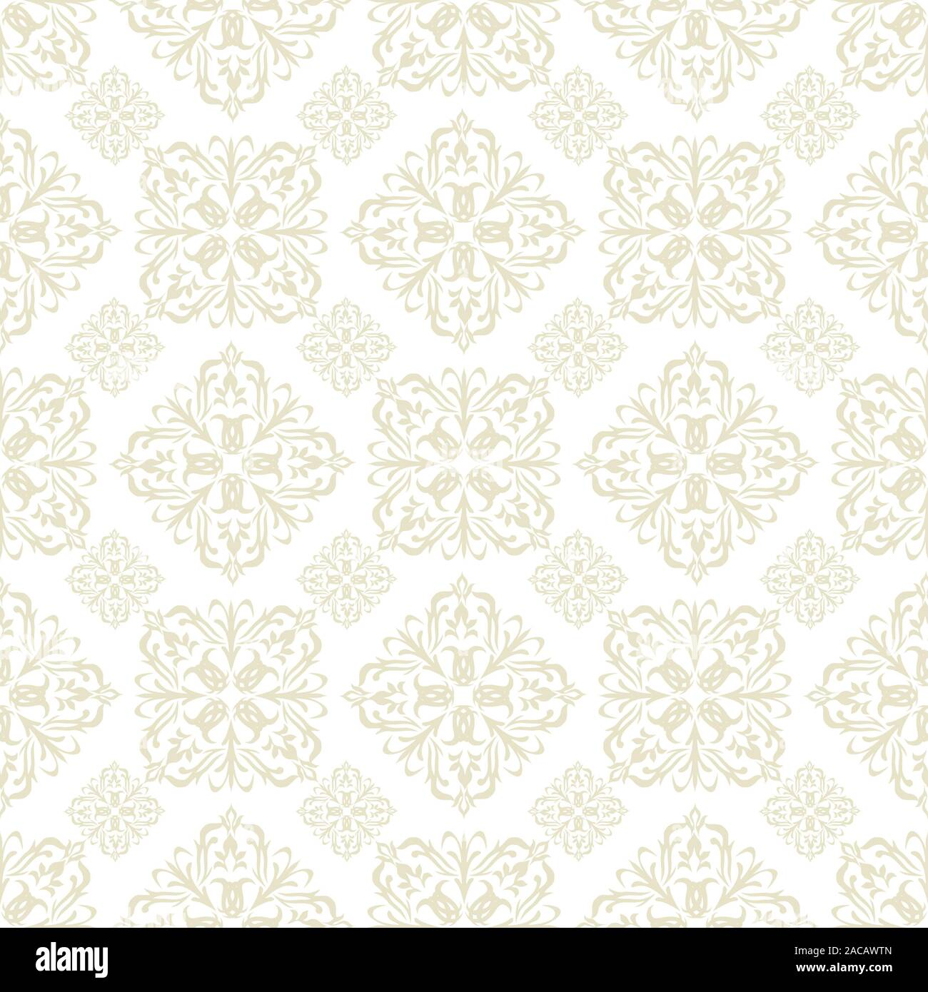 Floral Wallpaper Beige Tile Stock Photo 334612677 Alamy