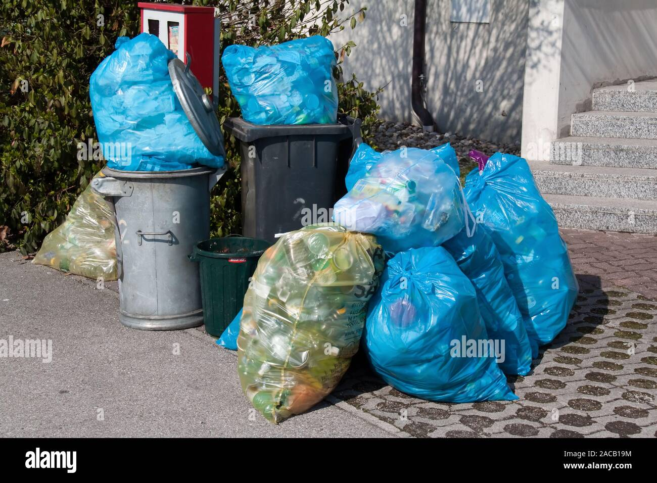 Plastic waste - Waste collection - Waste separation Stock Photo