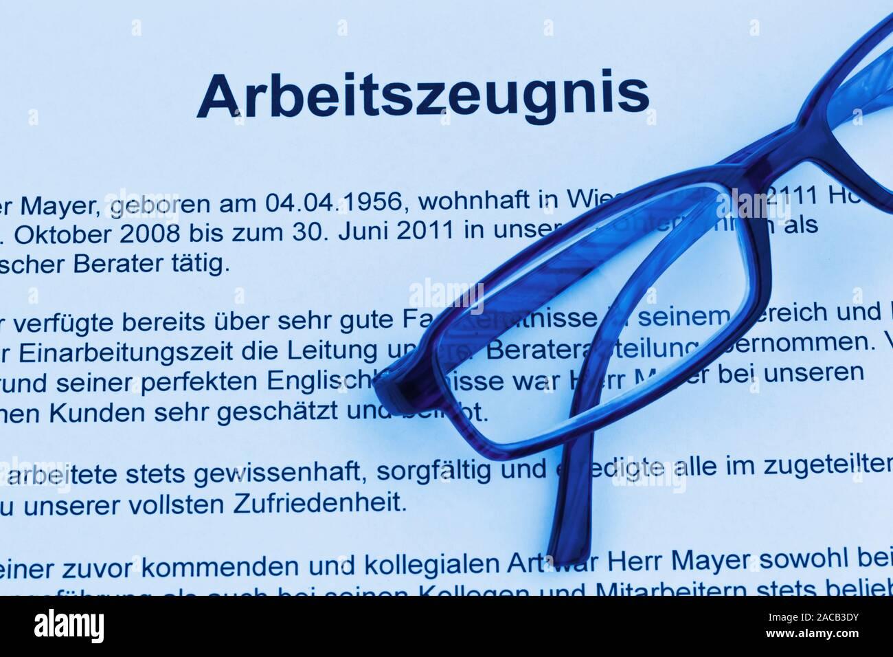 Job reference in German language Stock Photo