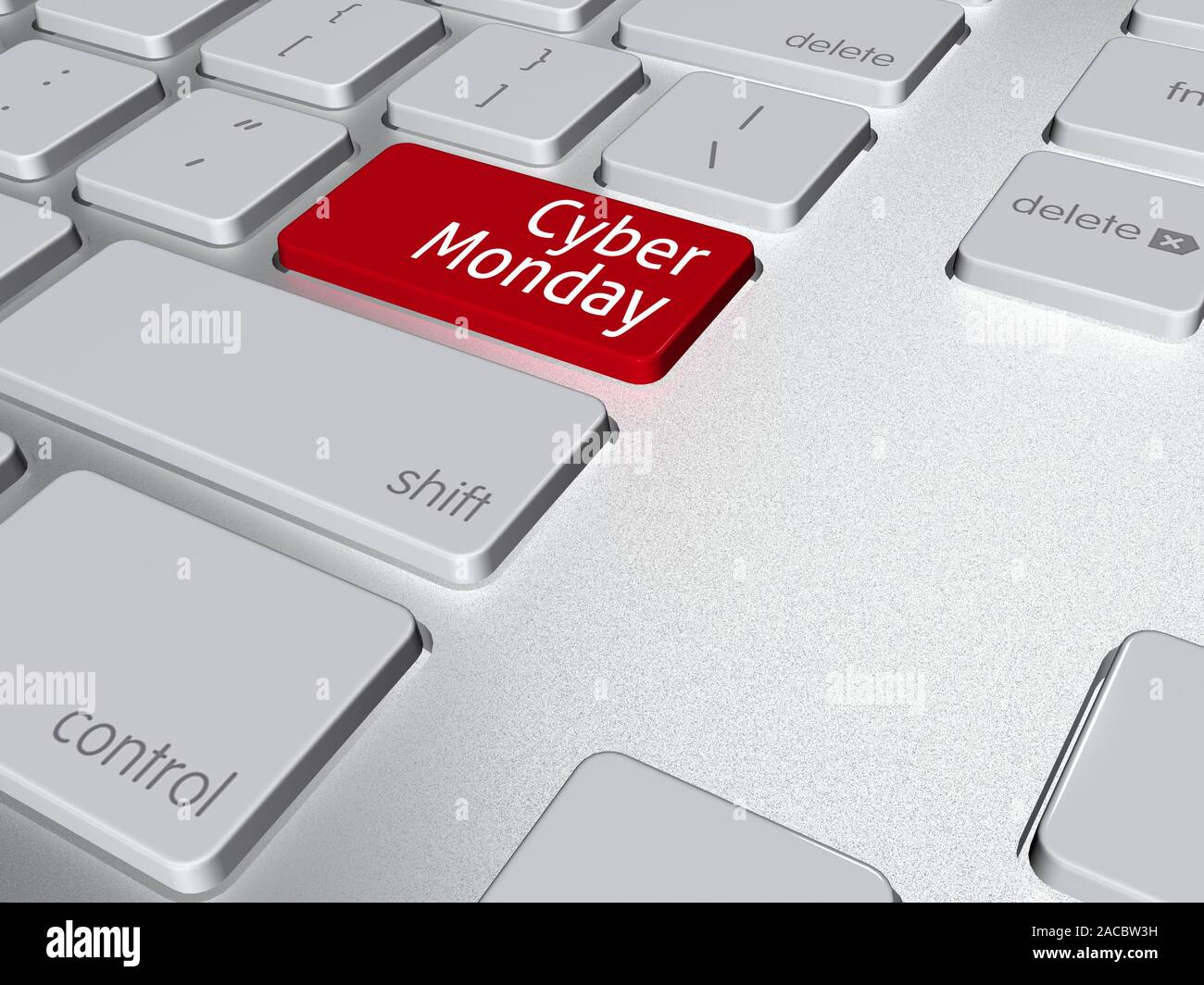 Computer Keyboard And Enter Key With Cyber Monday Text Over 3d Illustration Stock Photo Alamy