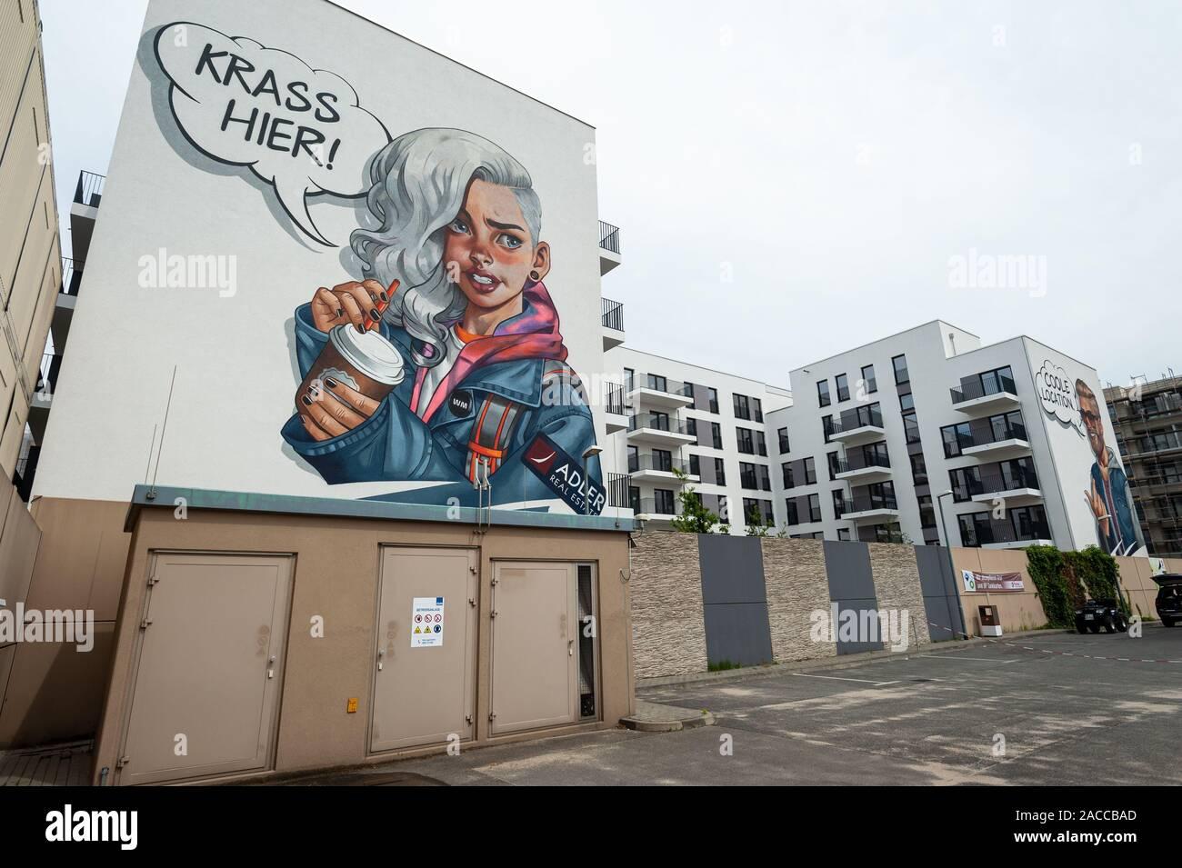 10.06.2019, Berlin, Germany, Europe - New apartment buildings by Adler Real Estate along Heidestrasse in the Europacity in Berlin Moabit. Stock Photo