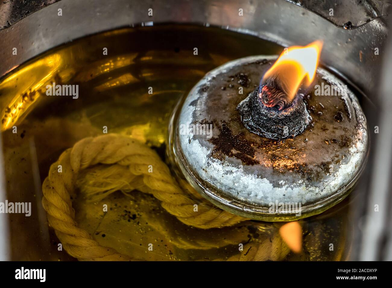 Picture of: Fire In Oil Lantern Lamp Close Up A Wick With A Flame Swims In Oil Inside A Lamp Stock Photo Alamy