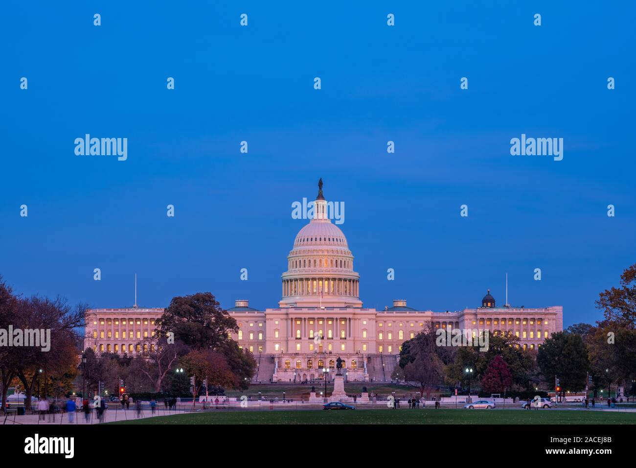 Exterior of the United States Capitol Building Stock Photo