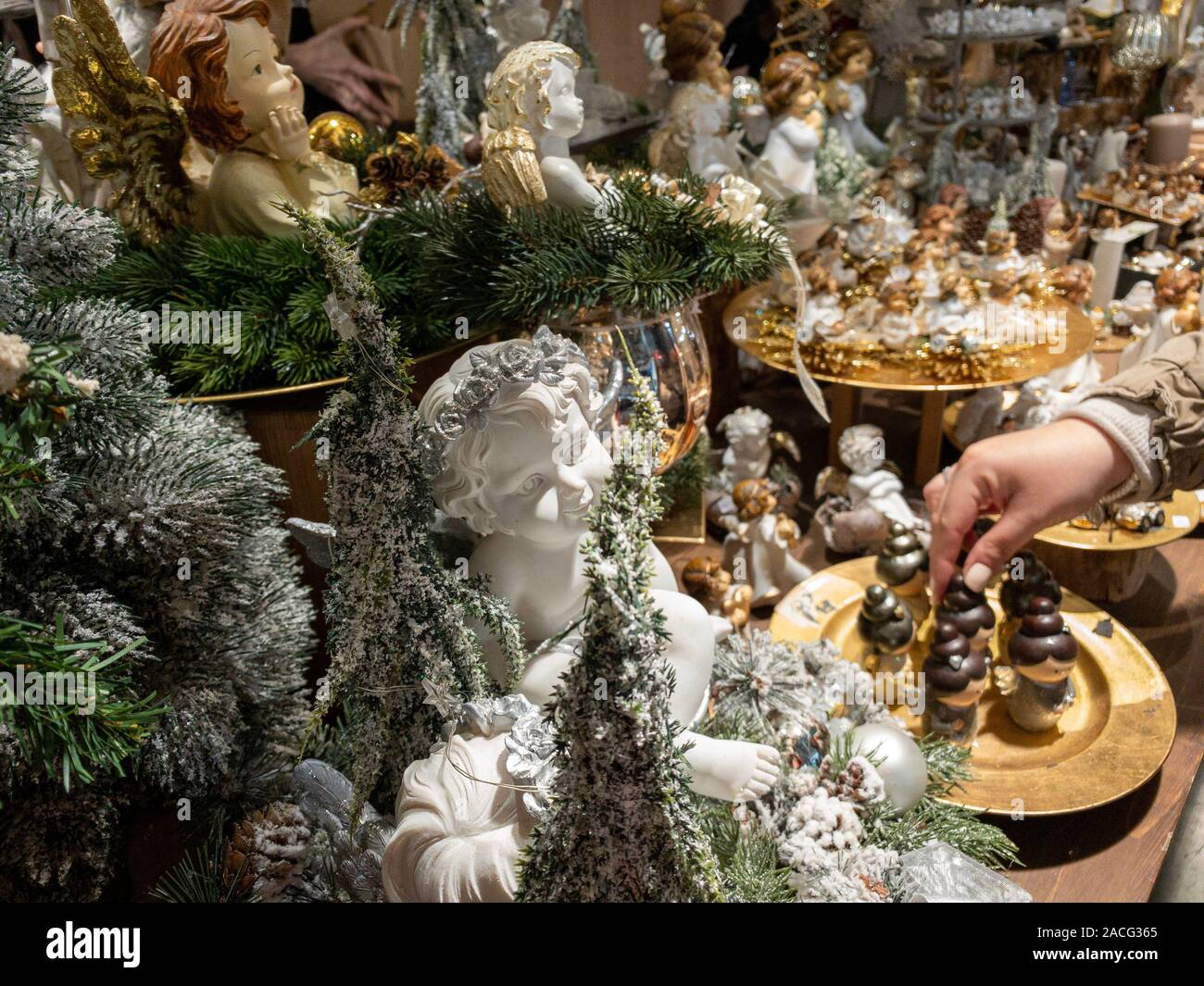 Milan Italy December 1st 2019 Decorations At A Christmas