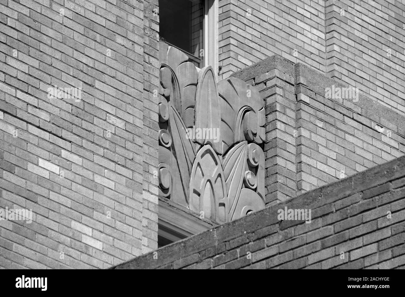 Art Deco design on the Bellingham Towers building, Bellingham, Washington state, USA Stock Photo
