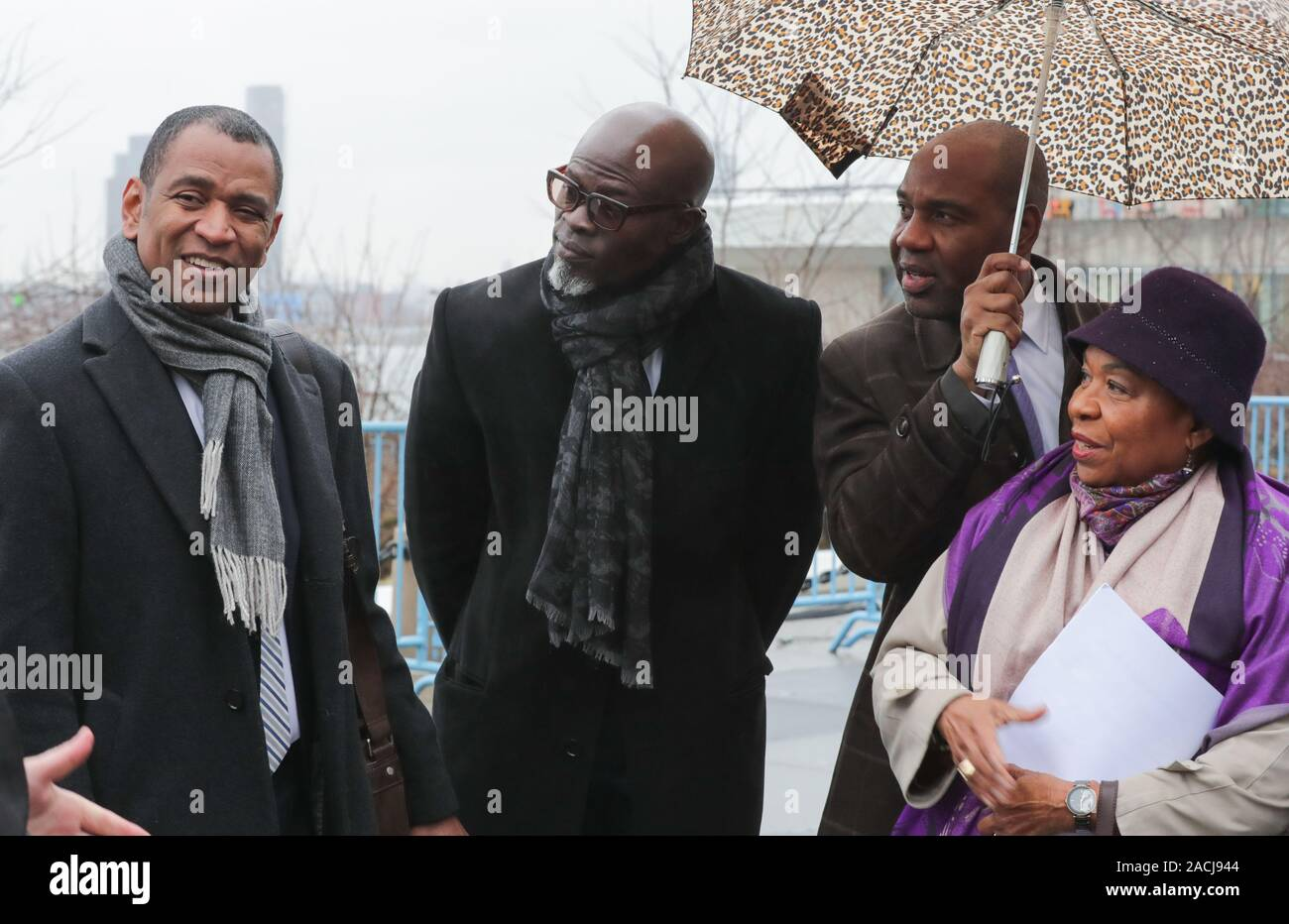 New York, NY, USA. 2nd Dec, 2019. United Nations, New York, USA, December 02, 2019 - Members of the United States Congressional Black Caucus visit the Ark of Return at UN Headquarters. With them were Djimon Hounsou, Actor and Producer, and Rodney Leon, Haitian-American architect and designer of the Ark of Return today at the UN Headquarters in New York.Photo: Luiz Rampelotto/EuropaNewswire.PHOTO CREDIT MANDATORY. Credit: Luiz Rampelotto/ZUMA Wire/Alamy Live News Stock Photo