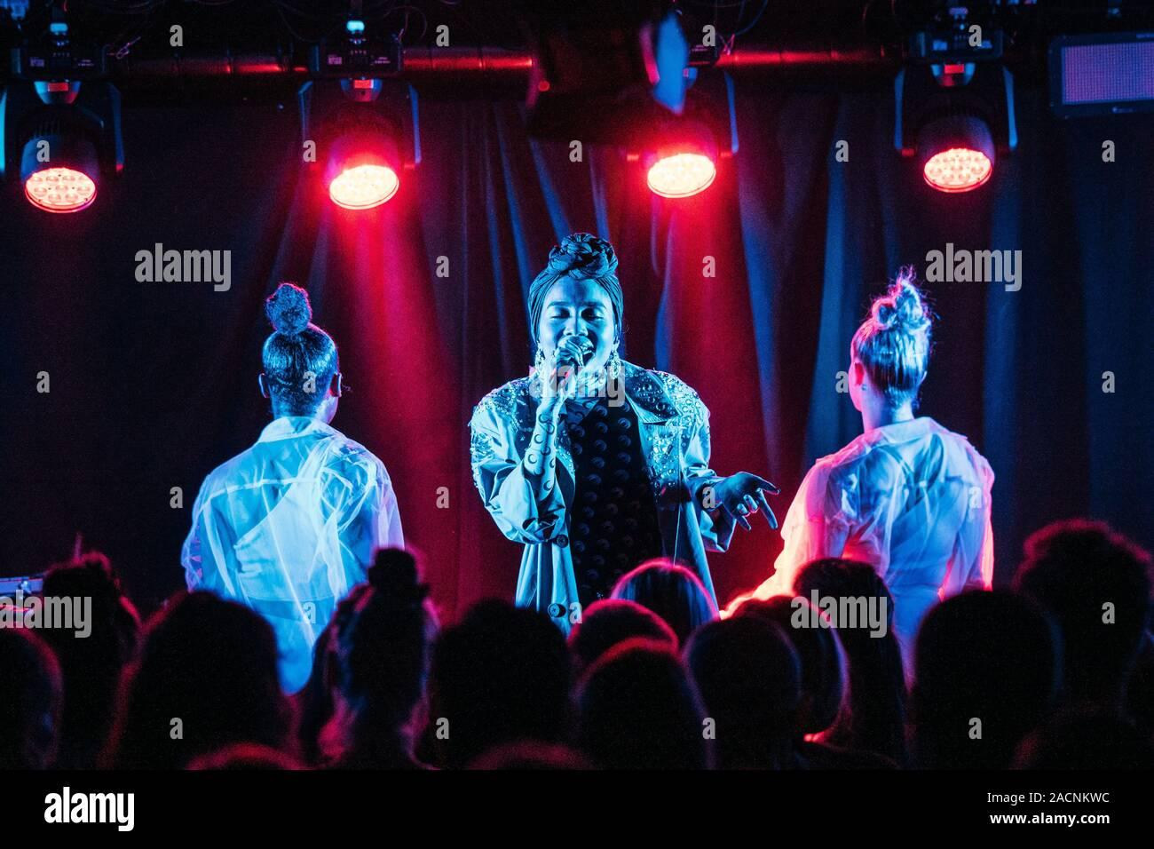 Copenhagen, Denmark. 02nd Dec, 2019. The Malaysian singer and songwriter Yuna performs a live concert at BETA in Copenhagen. (Photo Credit: Gonzales Photo/Mathias Kristensen/Alamy Live News). Stock Photo