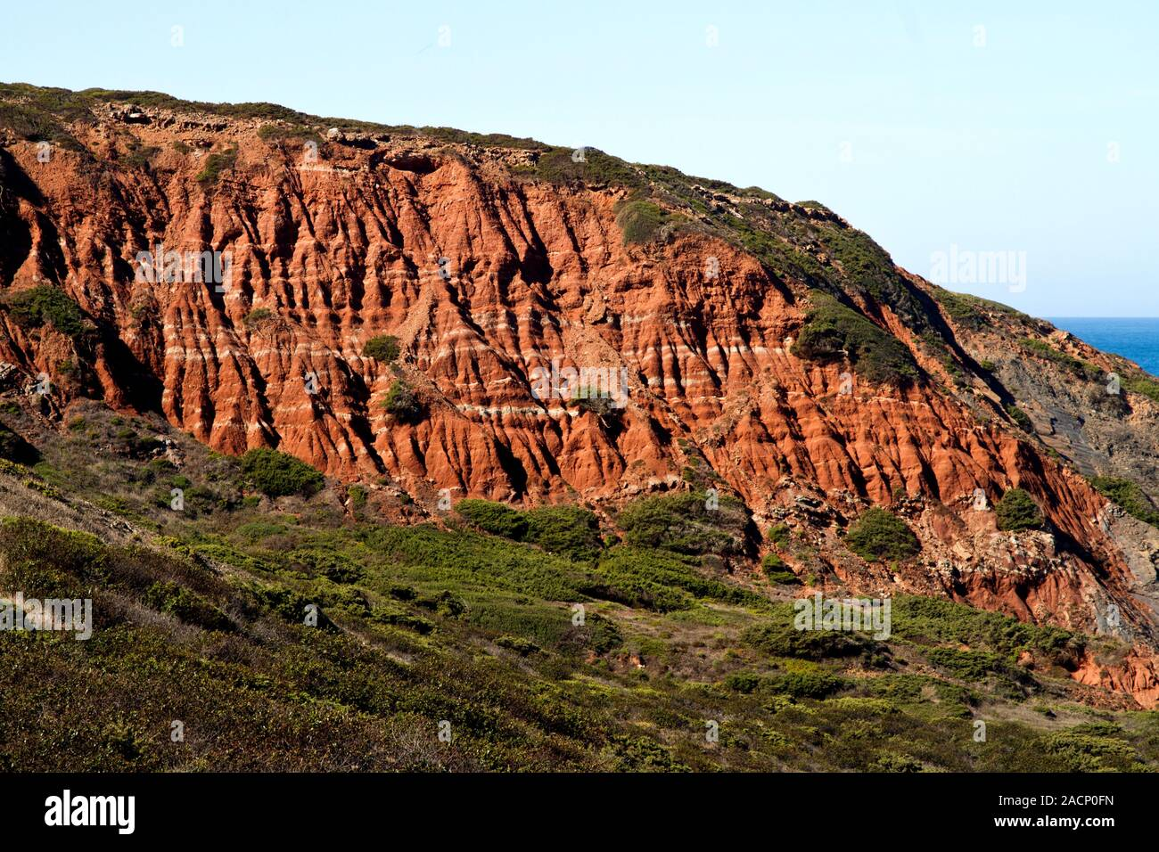 cliff geologic formation Stock Photo